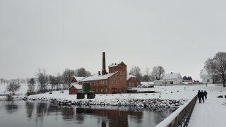 Bildet viser brenneriet Atlungstad i Stange i Hedmark. Fotograf er Hanna Geiran, Riksantikvar