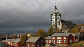 Bilde av byen Røros. Foto tatt av Asgeir Spange Brekke, Riksantikvaren