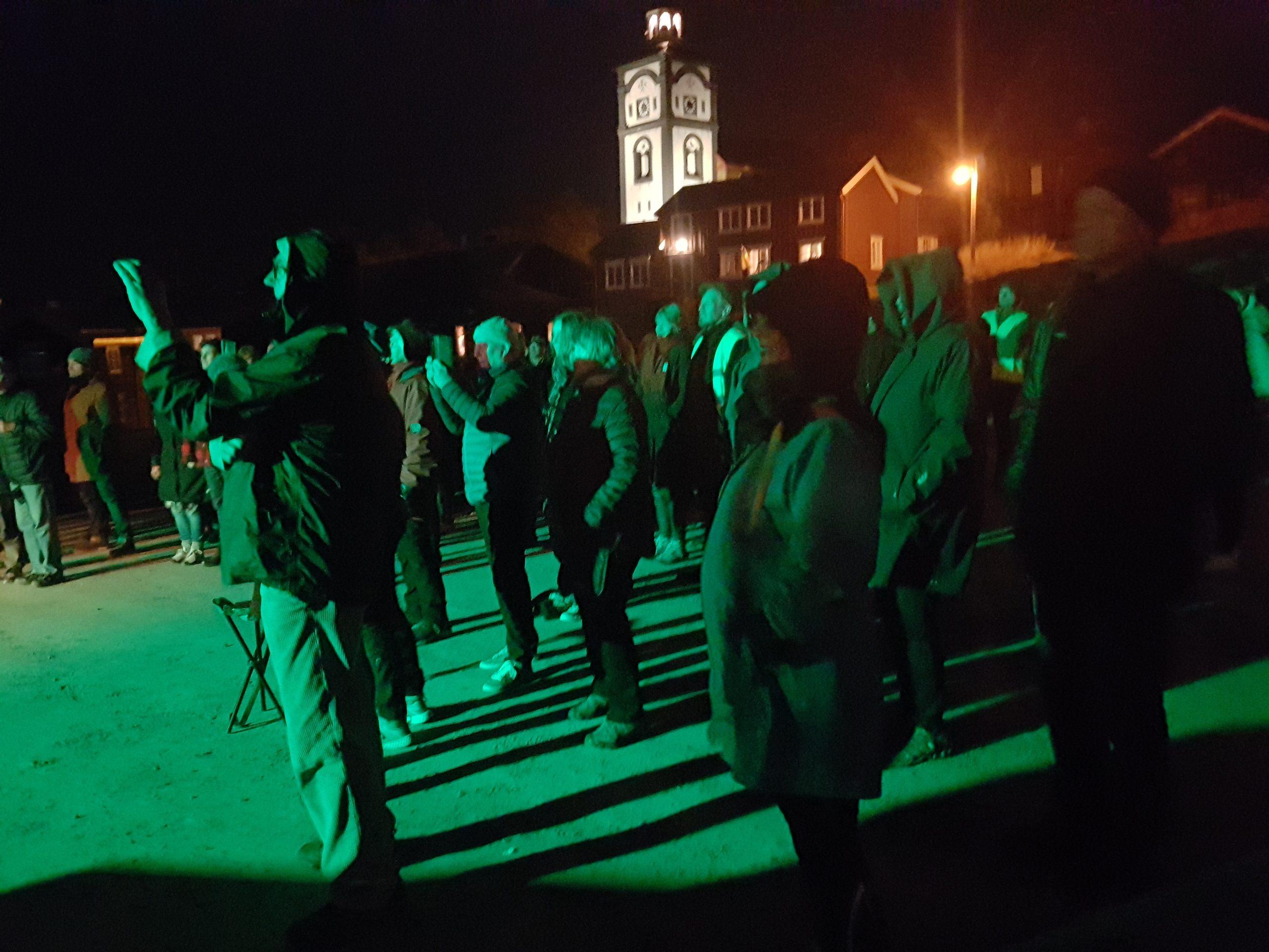 Bilde av Åpningen av verdensarvsenteret ble markert med folkefest i bergstaden fredag kveld. Foto: Jostein Løvdal, Riksantikvaren