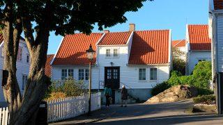 Foreningen Gamle Skudeneshavn vant Riksantikvarens kulturminnepris for 2018. Bilete er frå Veibellsbakken 8. Foto: Ørjan B. Iversen.