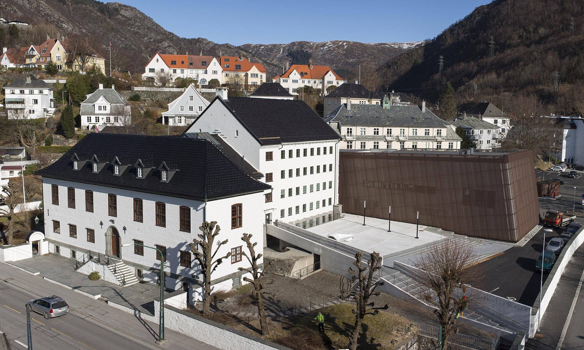 Bilde av Statsarkivet I Bergen. Foto: Trond A. Isaksen, Statsbygg
