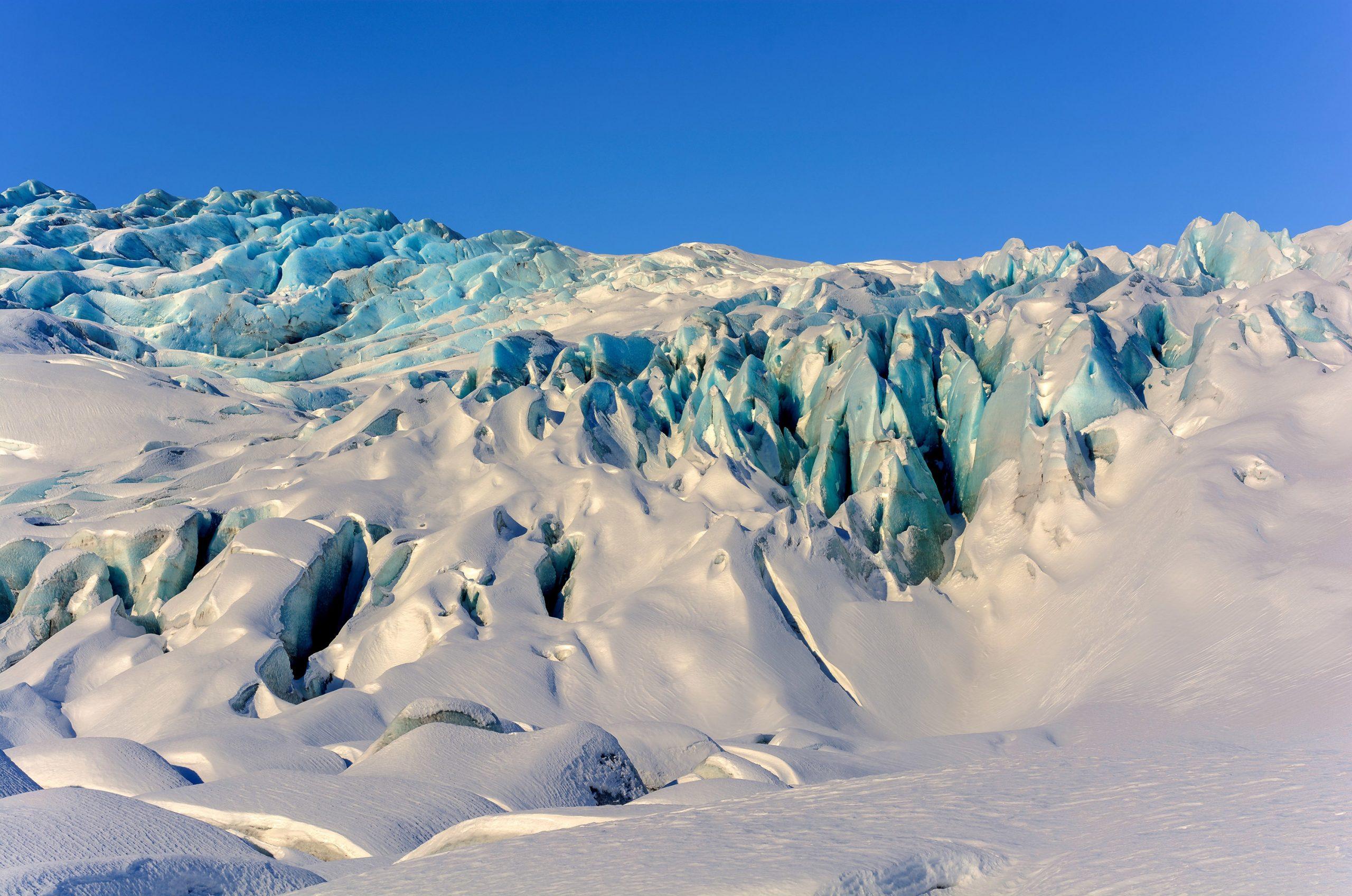 Bilde av Vatnajökull (Fláajökull) på Island. Fotografert av Thorvardur Arnason