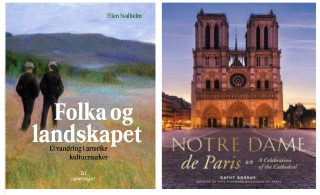 Bilde av bøkene Folka og landskapet og Notre Dame de Paris