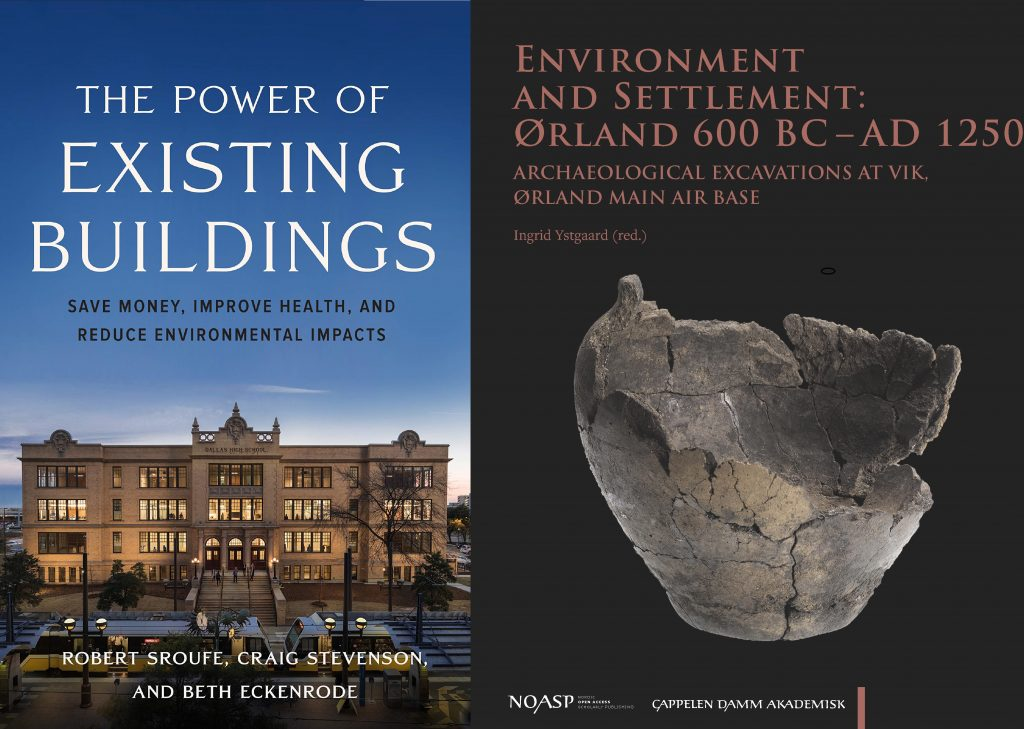 Bilde av bøkene The Power of Existing Buildings og Environment and Settlement