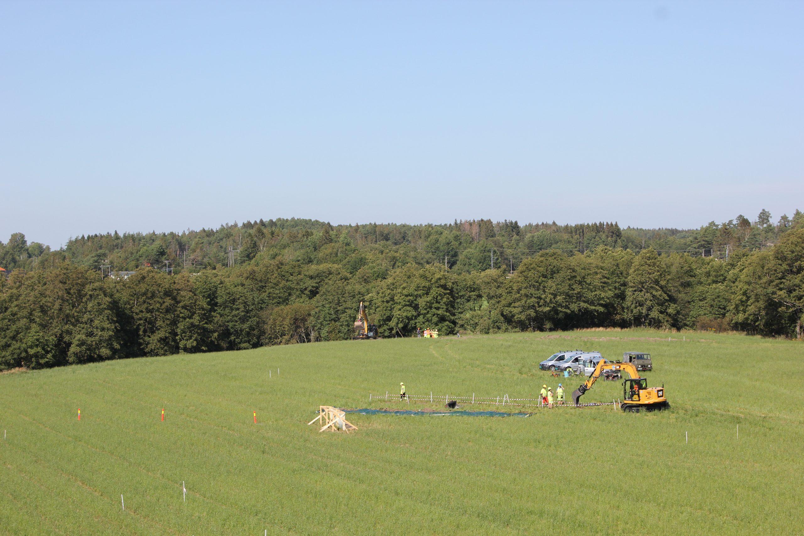 DArkeologar fann rester av eit vikingskip på Gjellestad i Østfold.