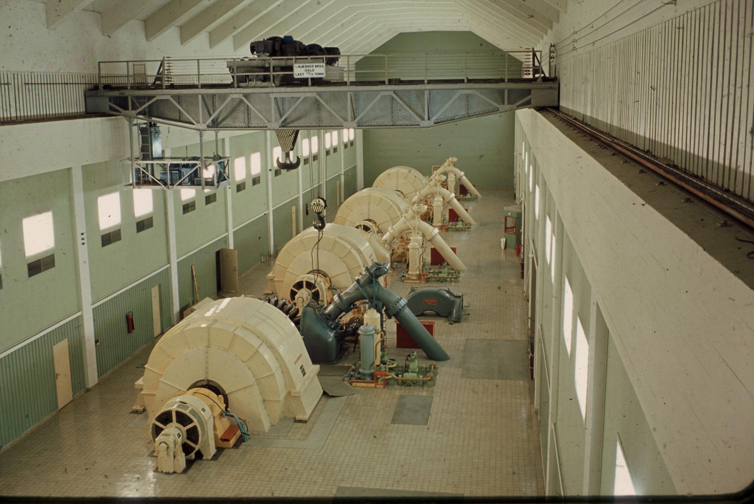 Maskinsal nord i Aura kraftverk