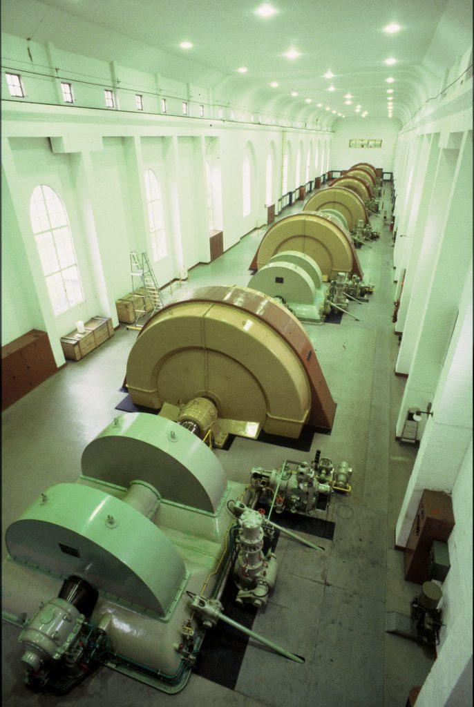 Glomfjord kraftverk - maskinsal