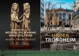 Bilde av bøkene Medieval Polychrome Wood Sculpture og Under Trondheim