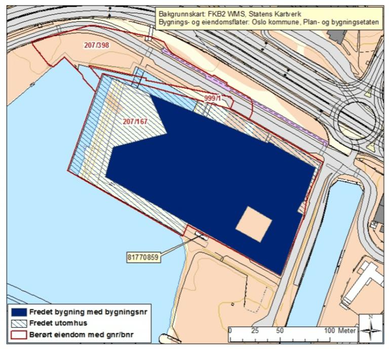Kart over Scenebygget for Den Norske Opera og Ballett