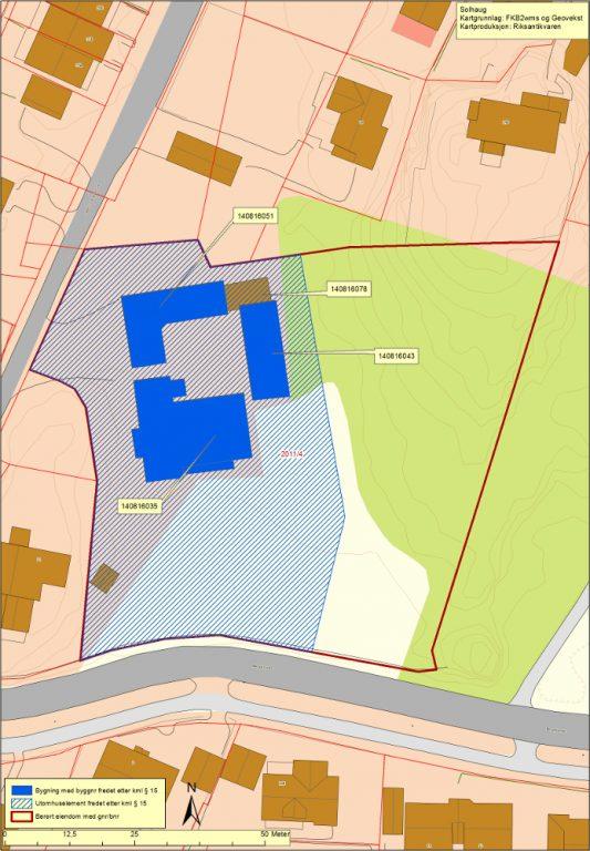Kart over Solhaug