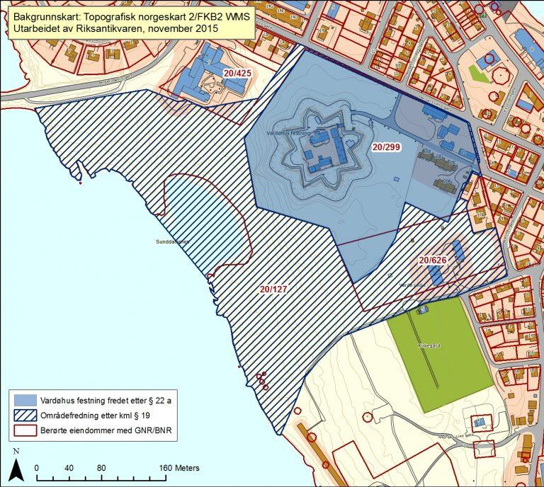 Kart over Vardøhus festning