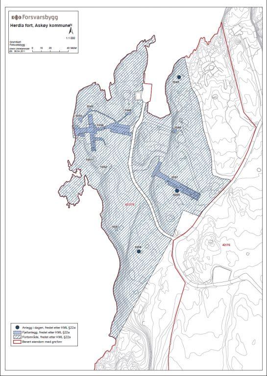 Kart Over Herdla Fort