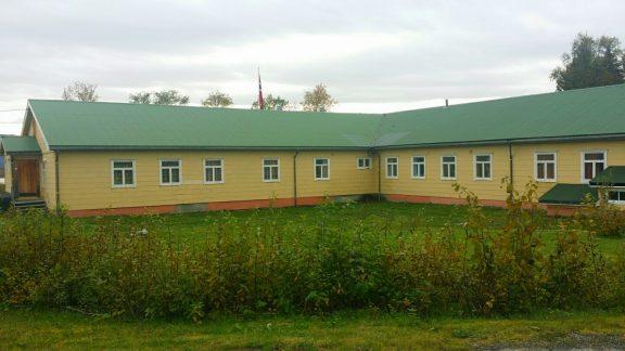 Bilde av hovedbygningen, sett fra baksiden. Foto: Siri Wolland, Riksantikvaren