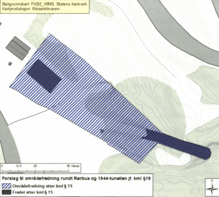 Kart over Rørbua