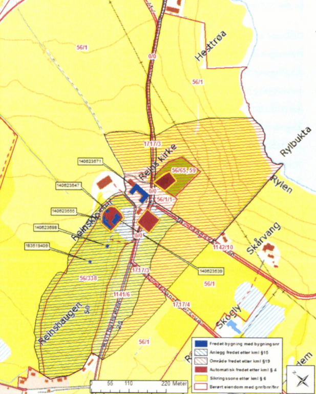Kart over Reins kloster
