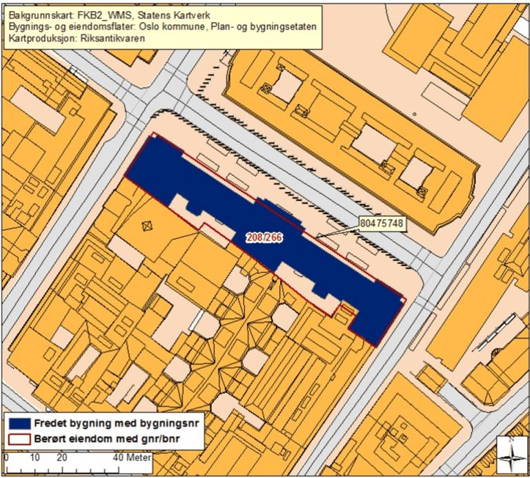 kart over Oslo høyesterettshus