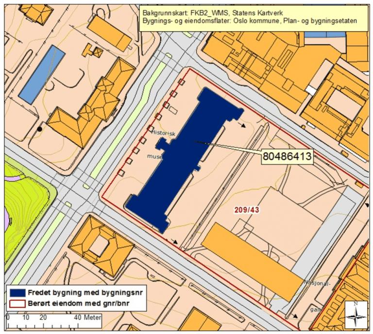 Kart over Historisk museum
