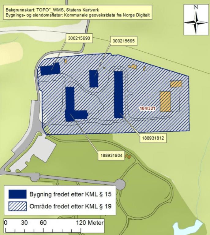 Kart over klungset leir