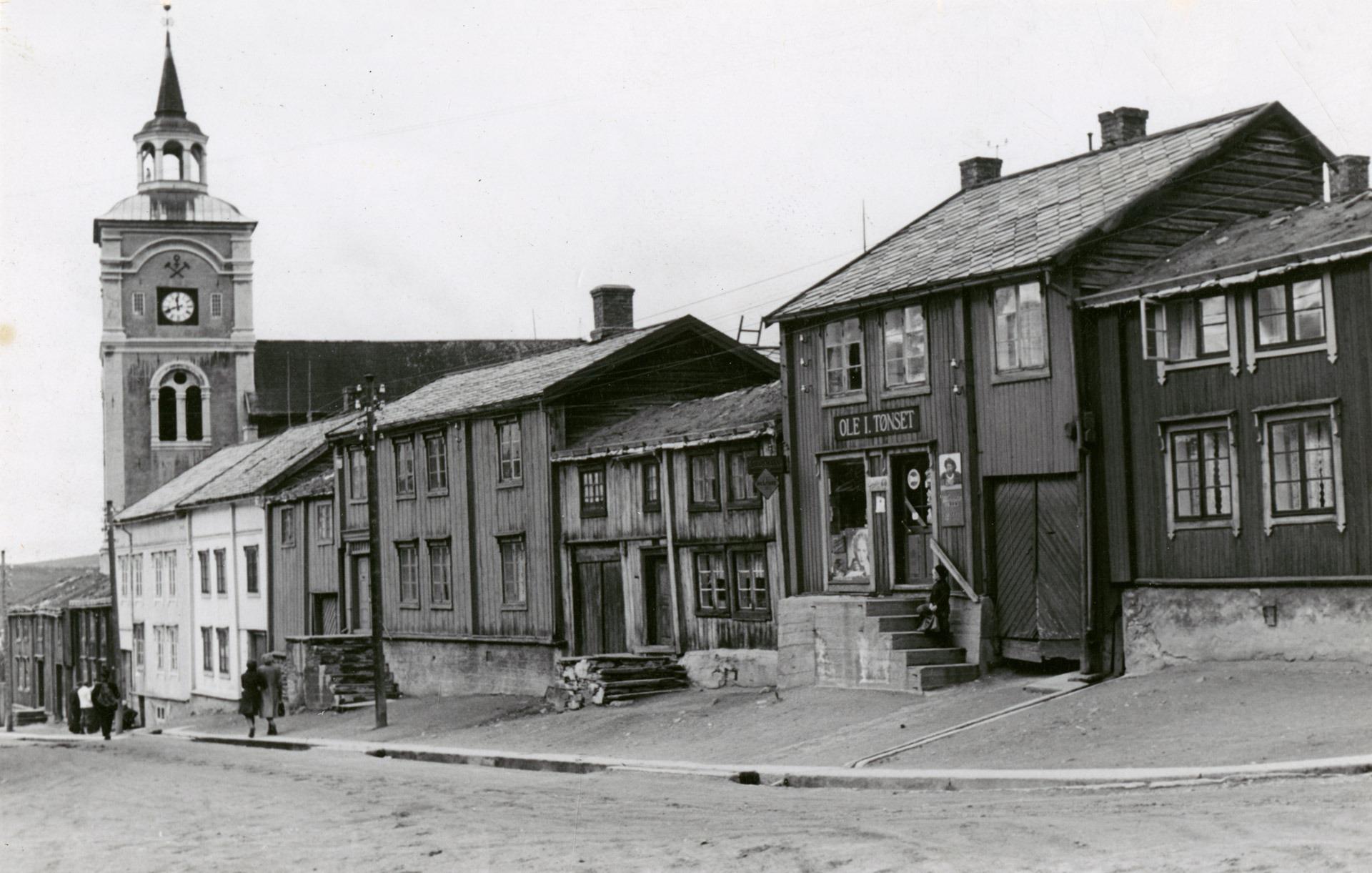 Photo of Roros in 1940. Photo by Halvor Vreim