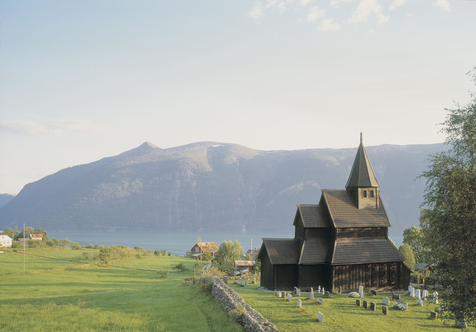 Photo of Urnes Stave Church, a cultural heritage site with World Heritage status. Photo by Jiri Havran, the Directorate for Cultural Heritage