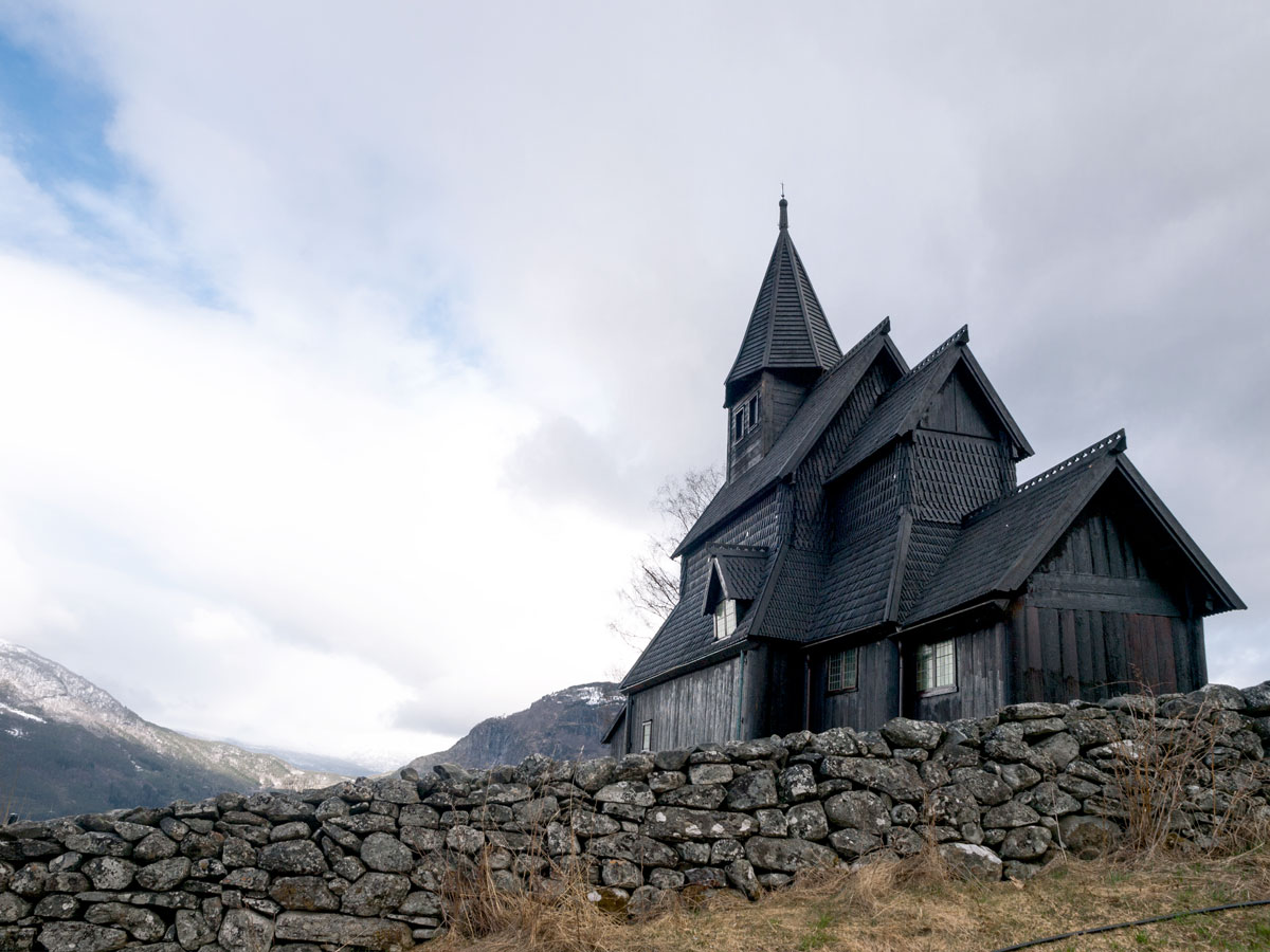 Picture of Urnes Stave Church. Photo by Werner Harstad, the Norwegian Public Roads Administration -Norwegian Scenic Routes