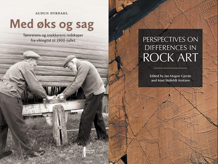 Bilde av bøkene Med øks og sag og Rock Art