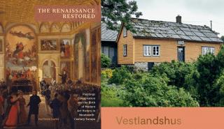 Bilde av bøkene Vestlandshus og The Renaissance Restored